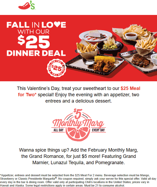Chilis coupons & promo code for [August 2020]