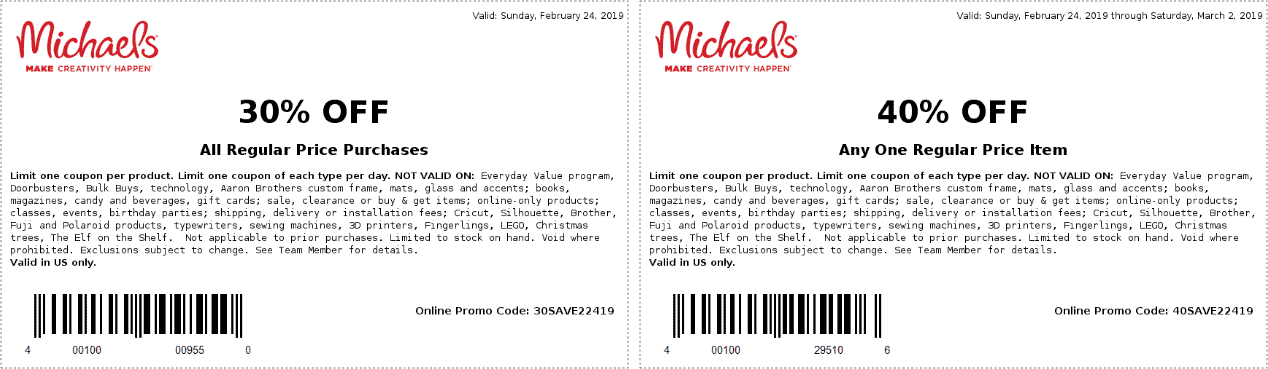 Michaels coupons & promo code for [April 2021]