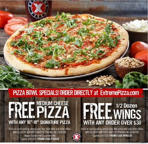 Extreme Pizza coupons & promo code for [July 2020]