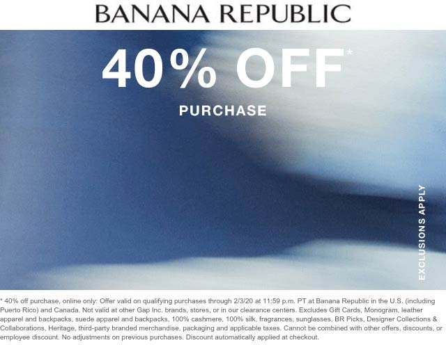 Banana Republic coupons & promo code for [August 2020]