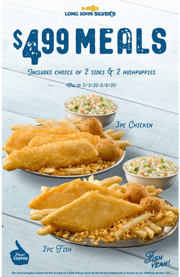 Long John Silvers coupons & promo code for [March 2021]