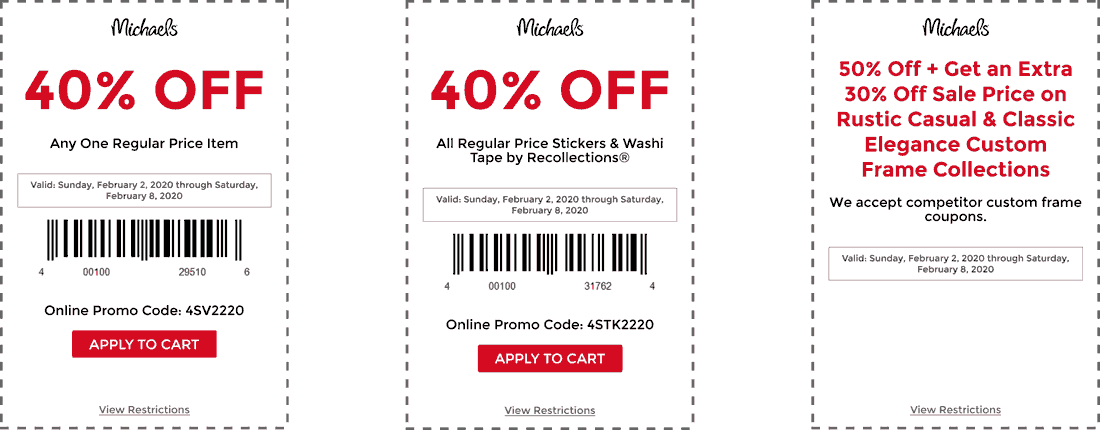 Michaels coupons & promo code for [August 2020]