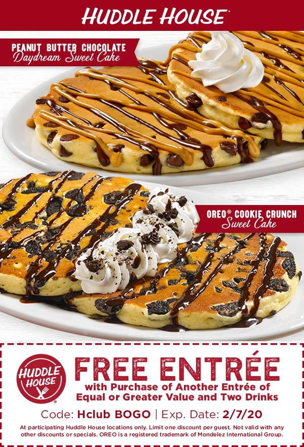 Huddle House coupons & promo code for [February 2020]