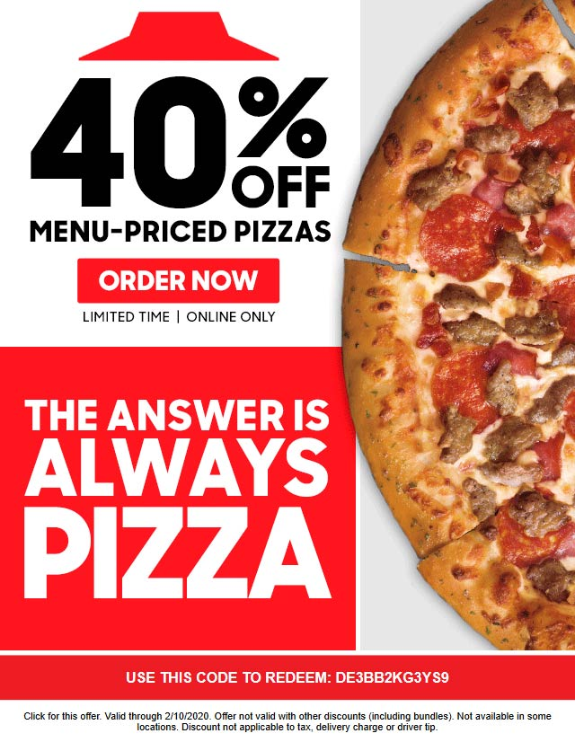 Pizza Hut coupons & promo code for [April 2021]