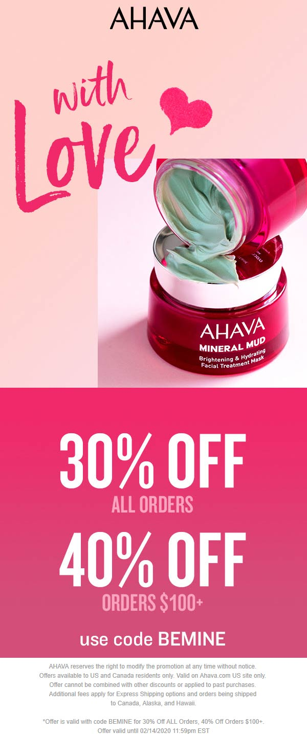 AHAVA coupons & promo code for [July 2020]