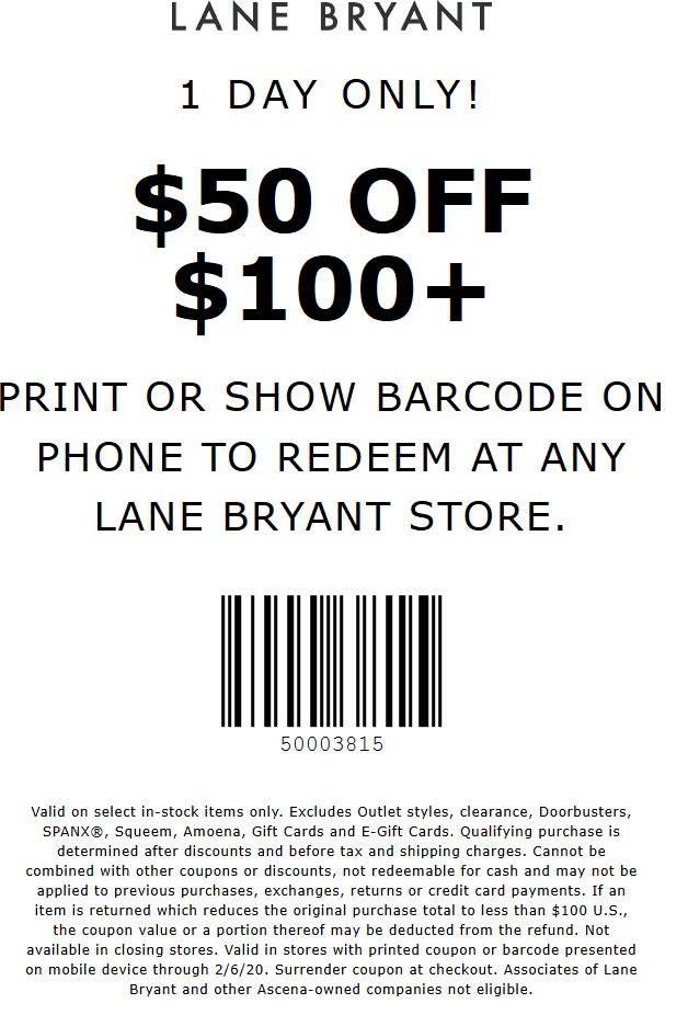 Lane Bryant coupons & promo code for [March 2021]