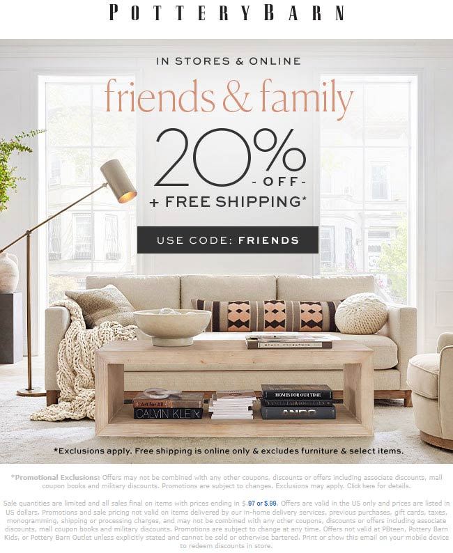 Pottery Barn coupons & promo code for [September 2020]