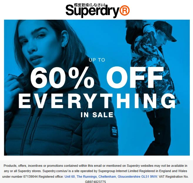 Superdry coupons & promo code for [July 2020]