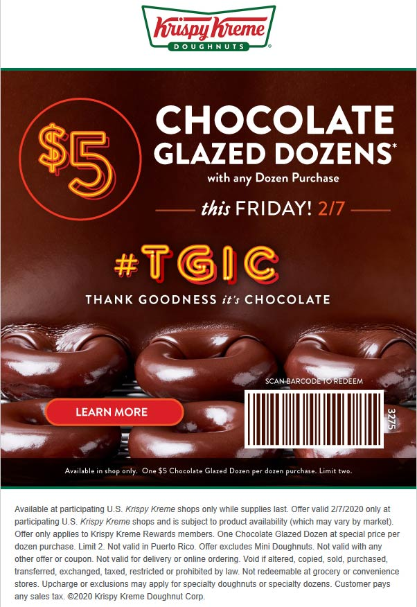 Krispy Kreme coupons & promo code for [July 2020]