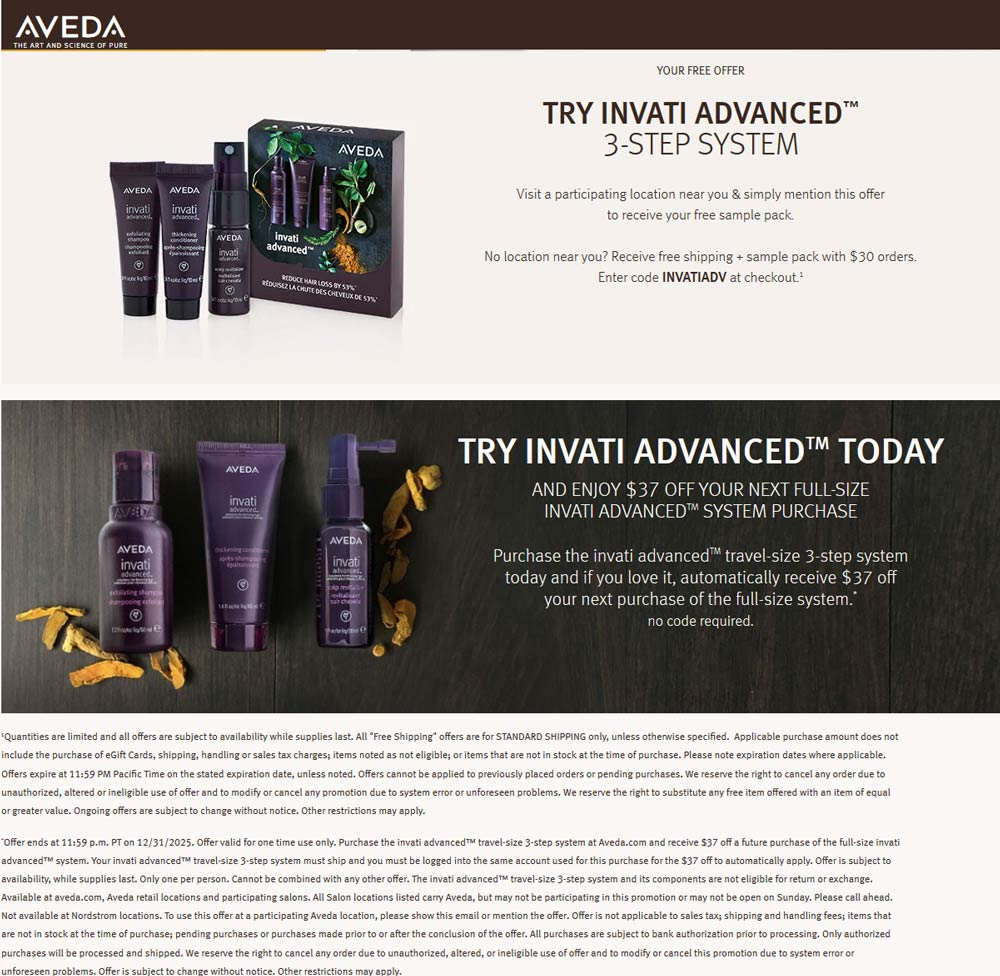 Aveda coupons & promo code for [October 2020]