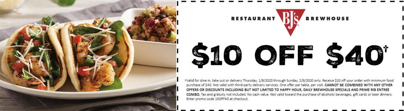 BJs Restaurant coupons & promo code for [January 2021]
