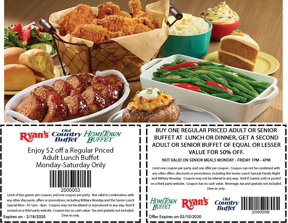 Hometown Buffet coupons & promo code for [September 2020]