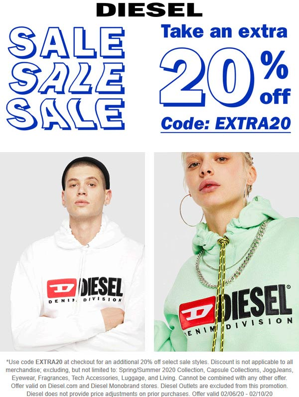 Diesel coupons & promo code for [April 2020]