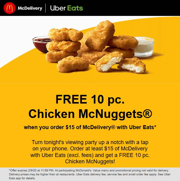 McDonalds coupons & promo code for [December 2020]