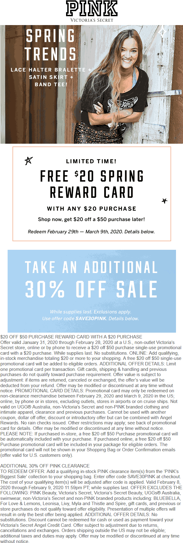 PINK coupons & promo code for [July 2020]