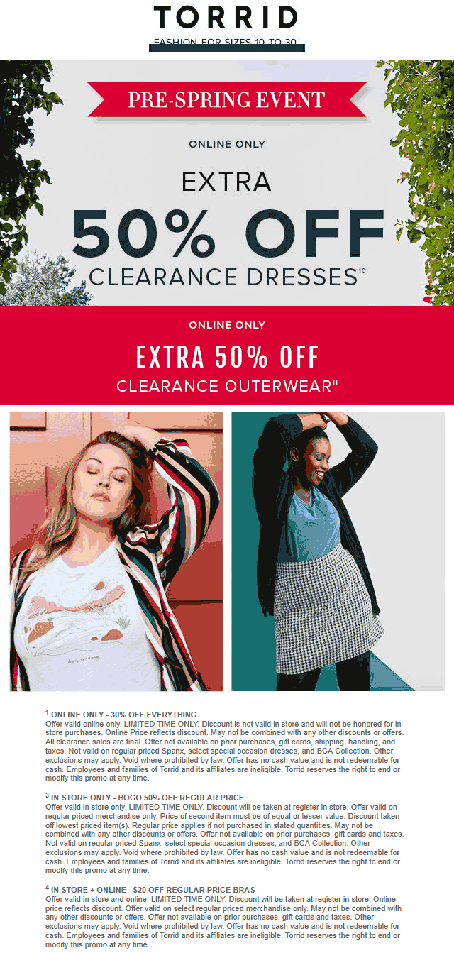 Torrid coupons & promo code for [October 2020]