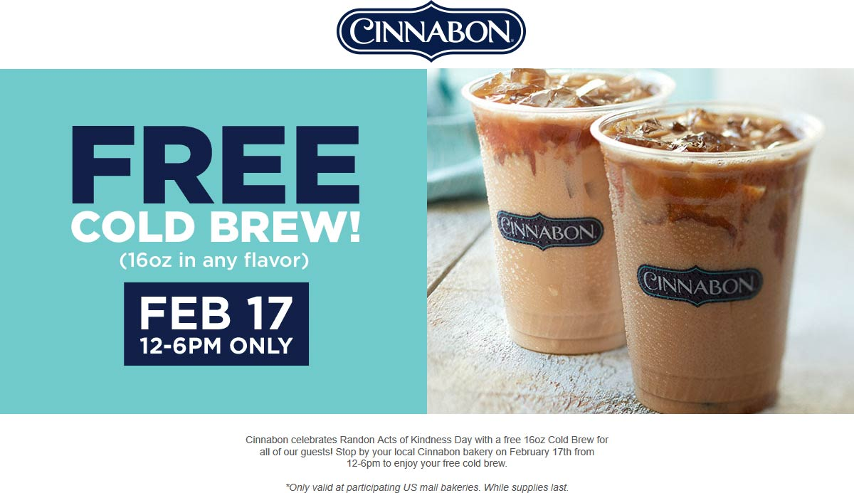 Cinnabon coupons & promo code for [April 2020]