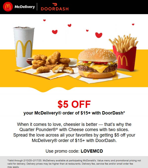 McDonalds coupons & promo code for [April 2020]