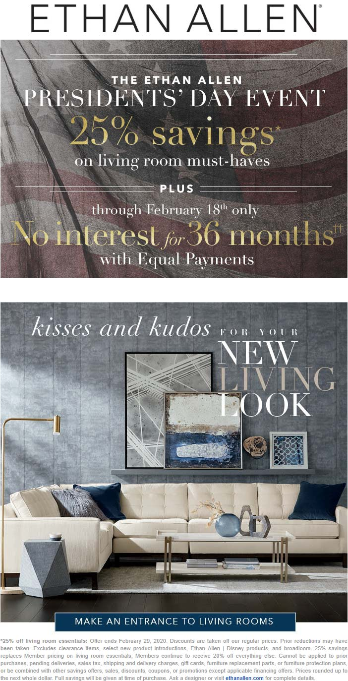 Ethan Allen coupons & promo code for [September 2020]