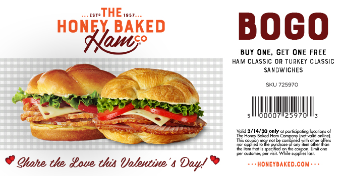 HoneyBaked coupons & promo code for [February 2020]