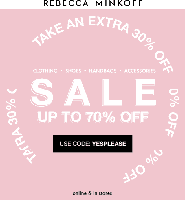 Rebecca Minkoff coupons & promo code for [April 2020]