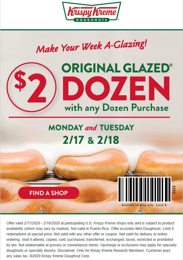 Krispy Kreme coupons & promo code for [April 2021]