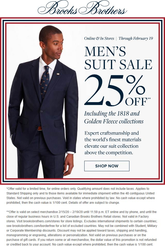 Brooks Brothers coupons & promo code for [September 2020]