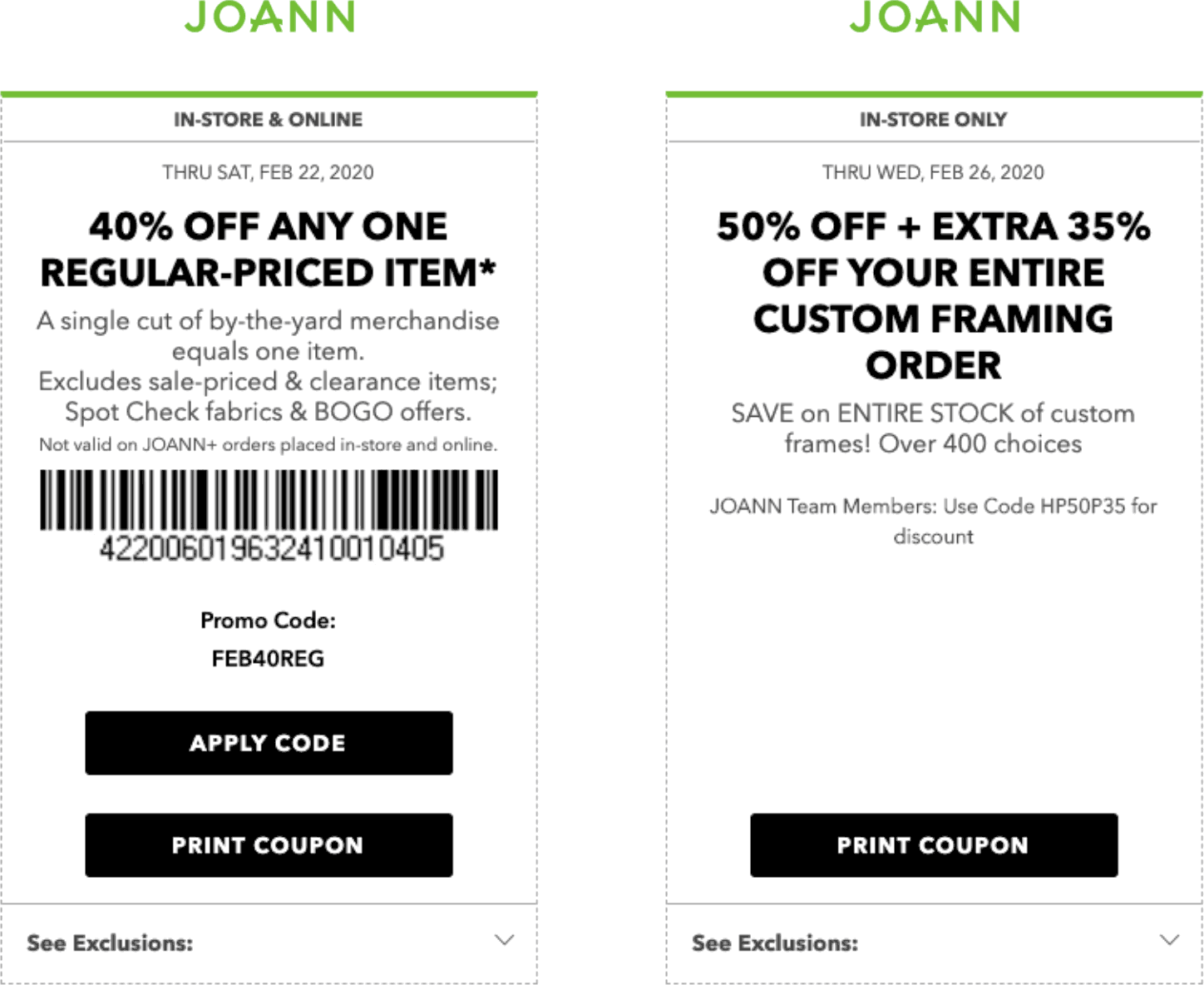 Joann coupons & promo code for [April 2020]