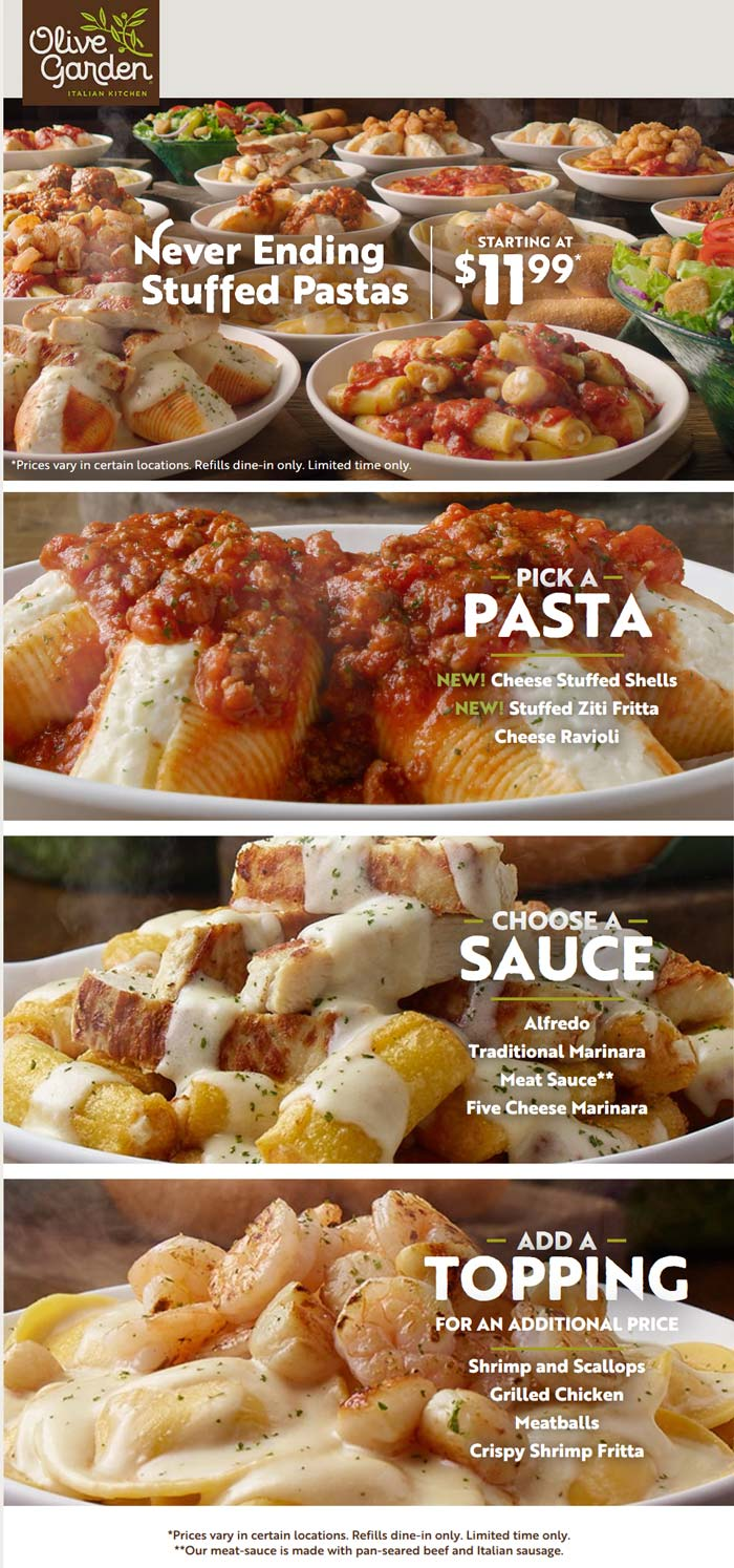 Olive Garden coupons & promo code for [April 2020]