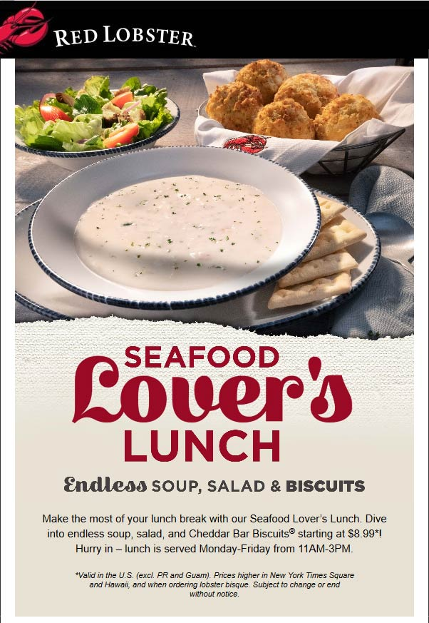 Red Lobster coupons & promo code for [September 2020]
