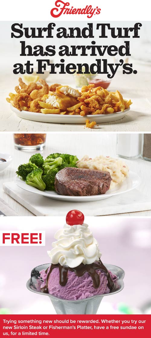 Friendlys coupons & promo code for [October 2020]