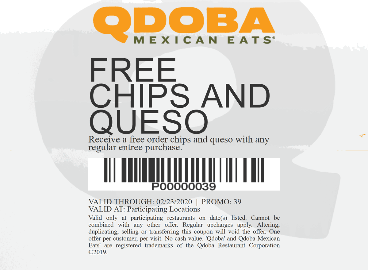 Qdoba coupons & promo code for [April 2020]