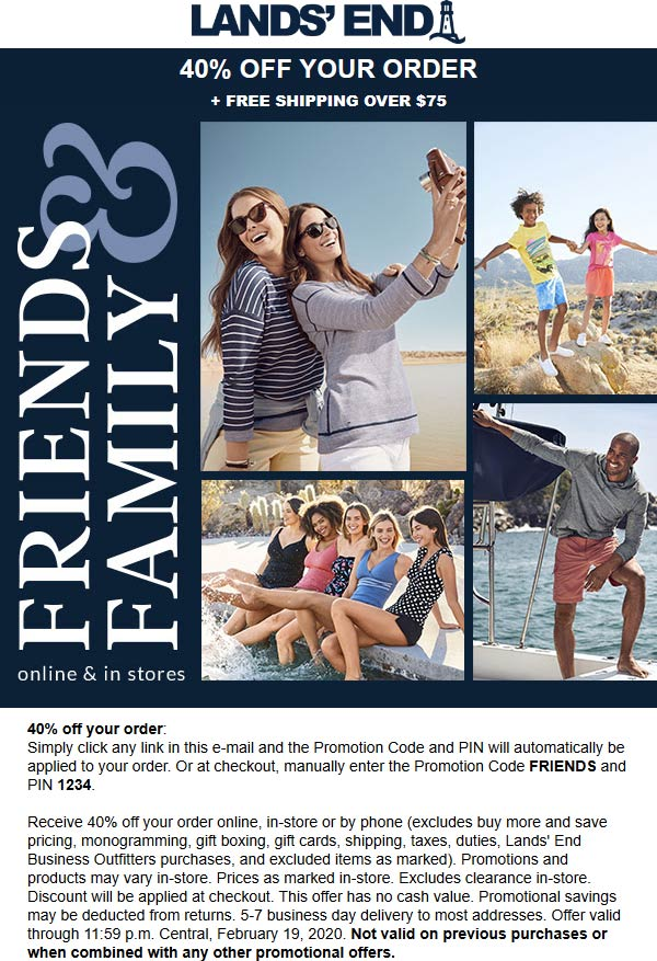 Lands End coupons & promo code for [April 2020]