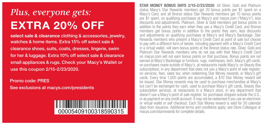 Macys coupons & promo code for [May 2021]