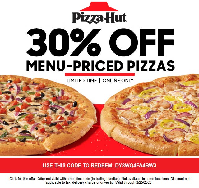 Pizza Hut coupons & promo code for [January 2021]