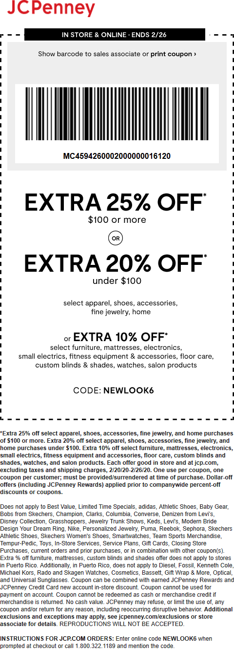 JCPenney coupons & promo code for [April 2020]