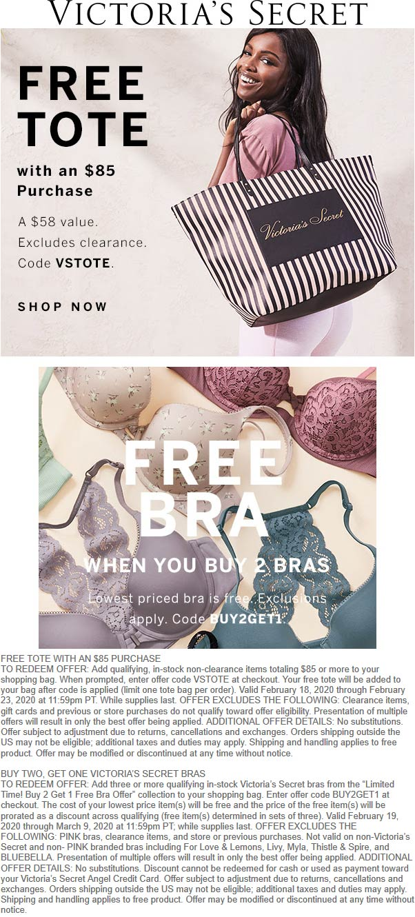 Victorias Secret coupons & promo code for [April 2021]