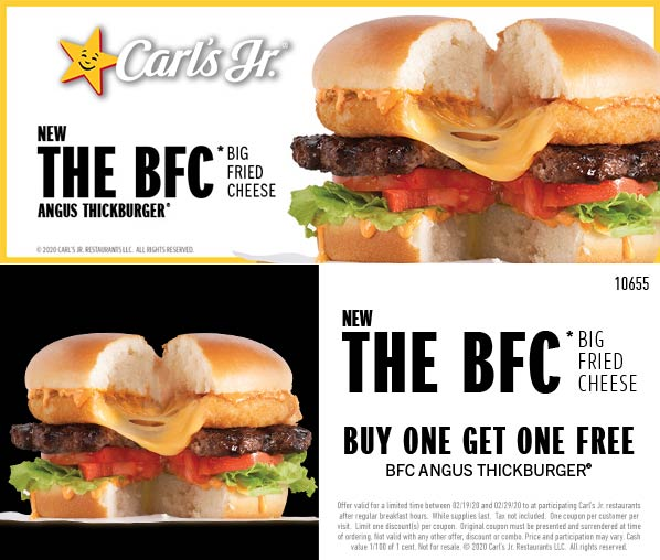 Carls Jr coupons & promo code for [July 2020]