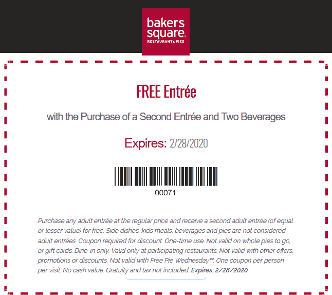 Bakers Square coupons & promo code for [July 2020]