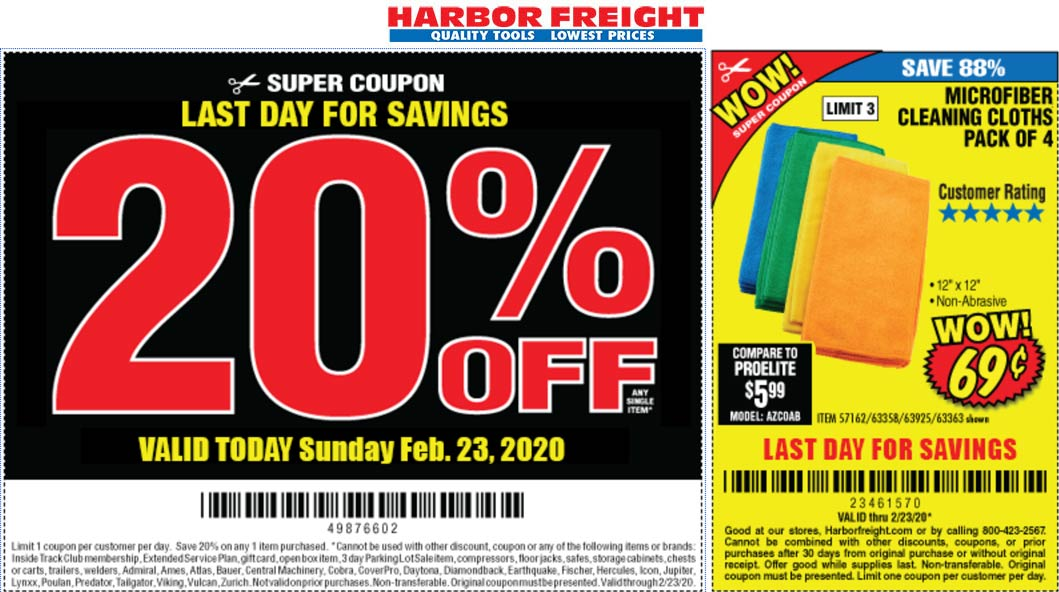 Harbor Freight coupons & promo code for [November 2020]
