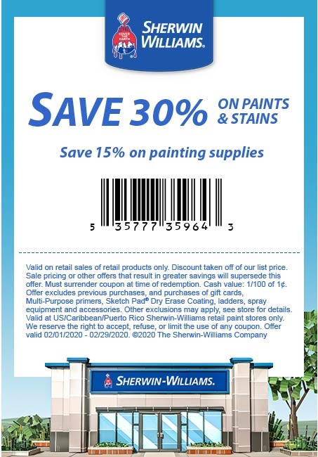 Sherwin Williams coupons & promo code for [October 2020]