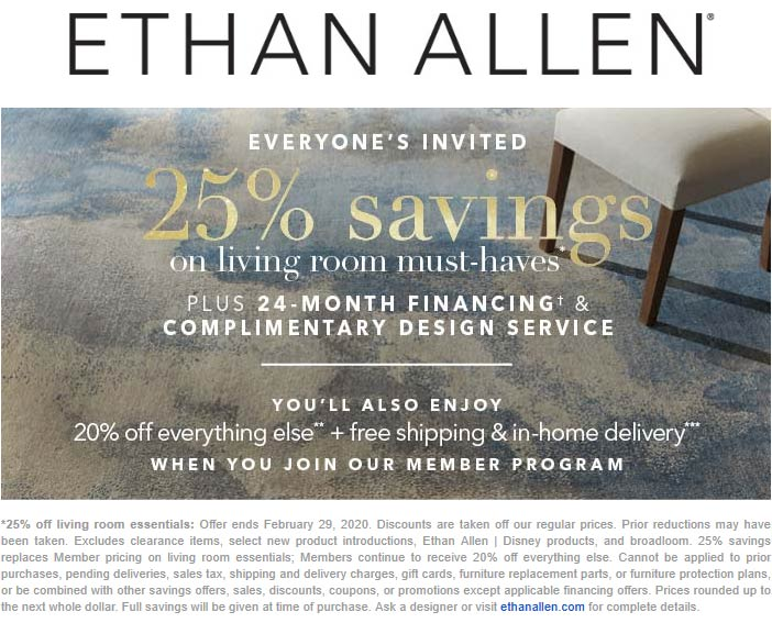 Ethan Allen coupons & promo code for [October 2020]