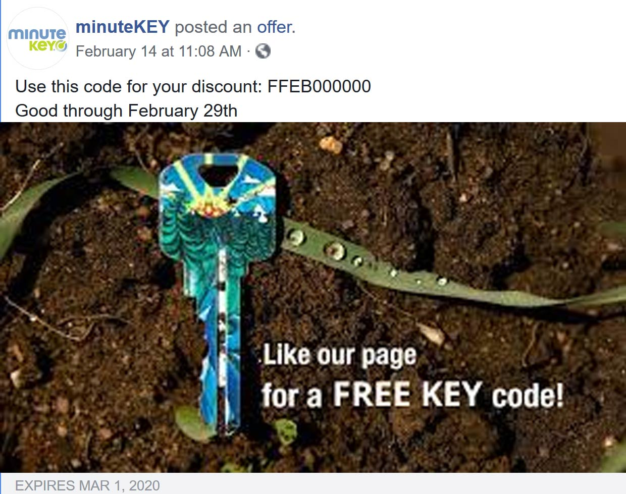 minuteKEY coupons & promo code for [July 2020]