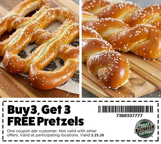 Philly Pretzel Factory coupons & promo code for [April 2021]