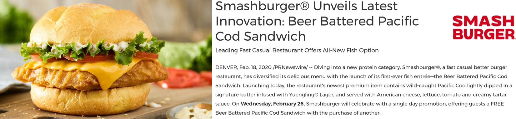 Smashburger coupons & promo code for [April 2020]