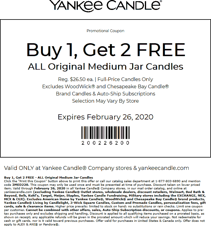 Yankee Candle coupons & promo code for [December 2020]