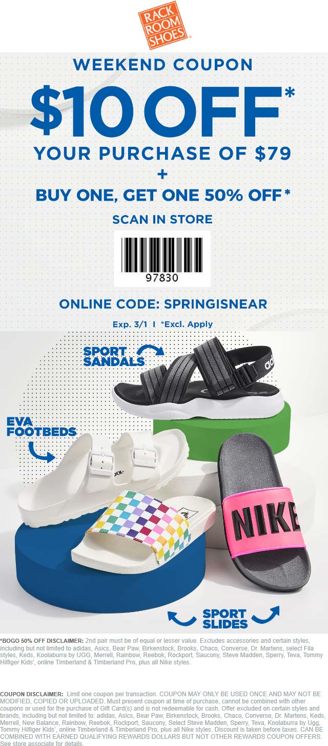 Rack Room Shoes coupons & promo code for [January 2021]