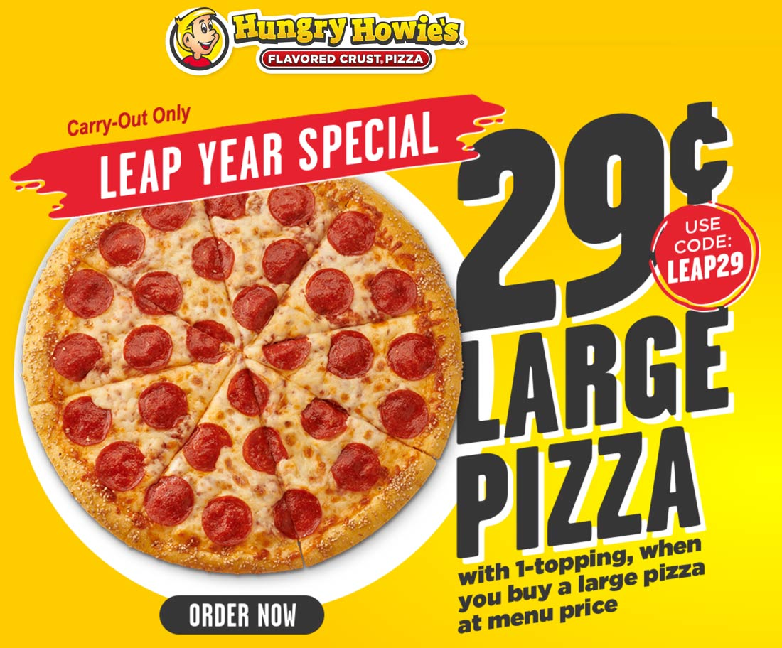 Hungry Howies coupons & promo code for [October 2020]