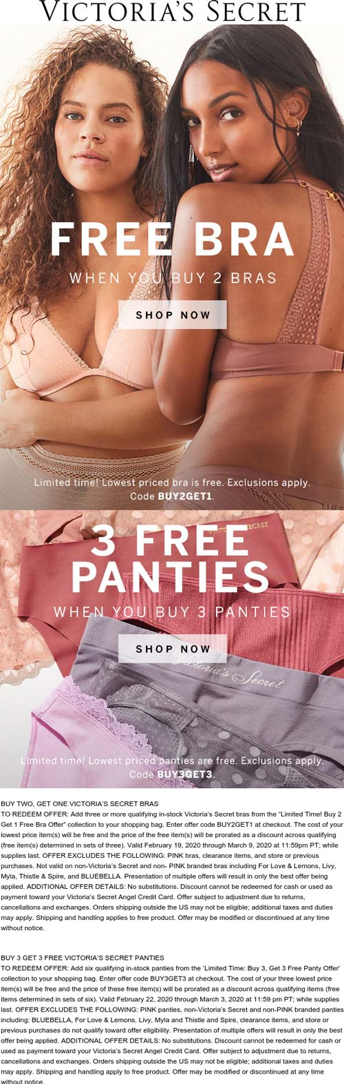 Victorias Secret coupons & promo code for [December 2020]