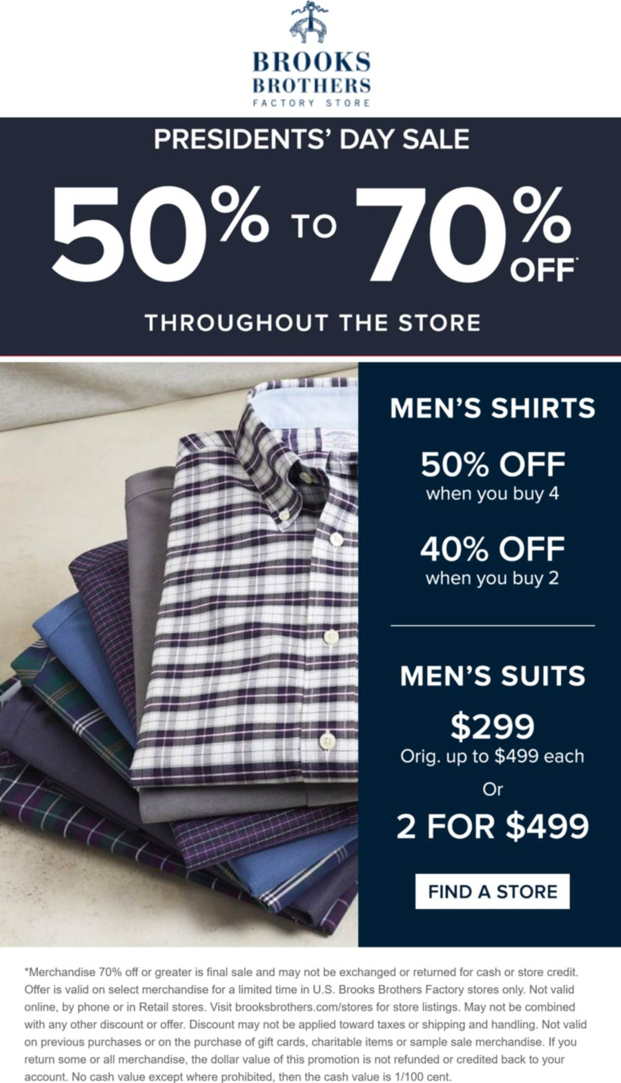 Brooks Brothers Factory stores Coupon  50-70% off at Brooks Brothers Factory Store #brooksbrothersfactory